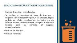 Biol. Molecular y G. Forense